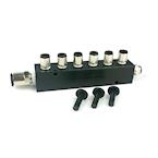 7 port Manifold with 3 Plugs