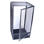 Black Aluminum Screen Cage (Medium) 16x16x30